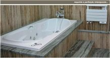 Ruivina Marble Bathtub Surround, Grey Marble