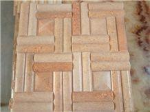 Quartz Mosaic, Natural Quartz Pink Quartzite Mosaic