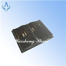 China Black Granite Book, Shanxi Black Granite Slant Grave