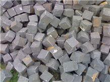 China Granite Black Cobble Stone, China Black Granite