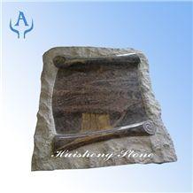 Granite Book, Himalaya Blue Granite Slant Grave