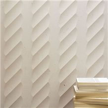 Nature Limestone 3D Wall Panel, White Marble 3d Wall Panel