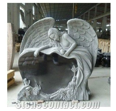 Angel Headstones China Black Granite Headstones