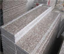 G687 Stairs (Chinese Peach Red Granite)
