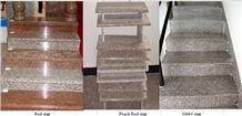 Red Granite Stairs,Steps