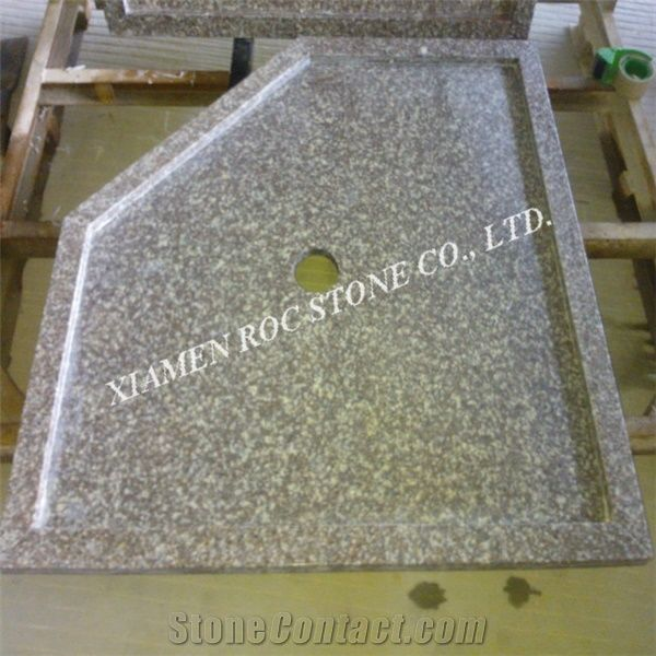 Solid Surface Shower Base.G664 Bain Brook Brown Luna Pearl Granite Shower Tray Black
