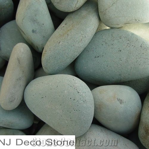 Green Landscaping Pebble Unpolished Green Granite Pebbles From