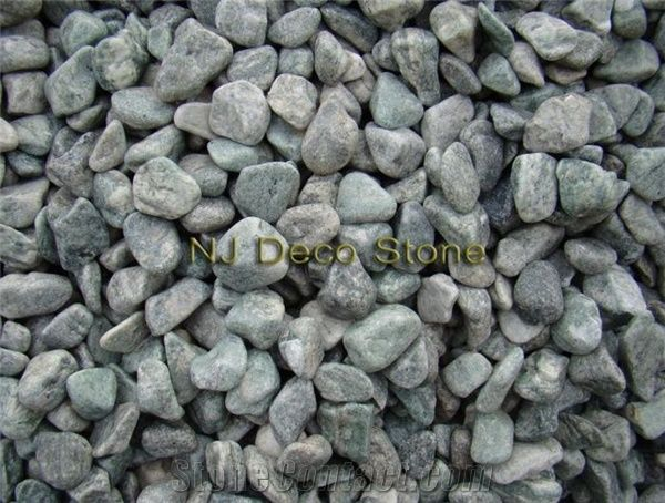 Green Landscaping Stone Green Granite Pebble Gravel From China