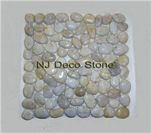 White Marble Pebble Mosaic