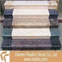 Beige Botticino Marble Stairs