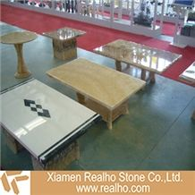 Decorative Marble Table Top, Crema Marfil Beige Marble Table Tops