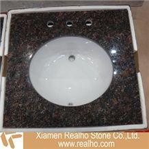 Tan Brown Granite Bathroom Tops;bathroom Vanitytop