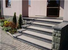 Tisska Zula (Tis Grau ) Granite Steps, Tisska Zula ,Tis Grau Grey Granite