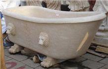Beige Limestone Bath Tub