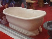 China Royal White Marble Bathtub