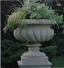 Flowerpot Vases, Grey Sandstone Pot