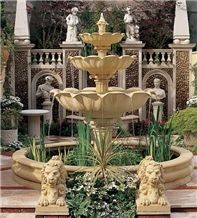 Beige Limestone Fountain
