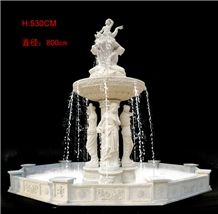 BEIJING White Marble Garden Fountain