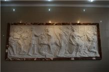 White Marble Relief Carving