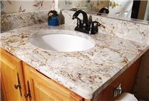 Top Star Granite Bath Top, White Granite Bath Top