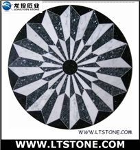 Water Jet Medallion Round, Mixed Marble Medallion