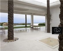 Piedra Paloma Honed Limestone Tiles & Slabs, Apomazada, Adouci, White Limestone Spain Tiles & Slabs