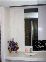 Piedra Paloma Limestone Vanity Top, Sink, White Limestone Bath Top Spain