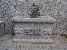 Serizzo Antigorio Chiaro Fountain, Grey Granite Fountain