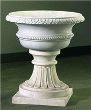 Garden Vases Flowerpot, White Marble Pot