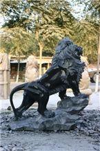 Lion Statue Marble Lion, Black Marble Statue