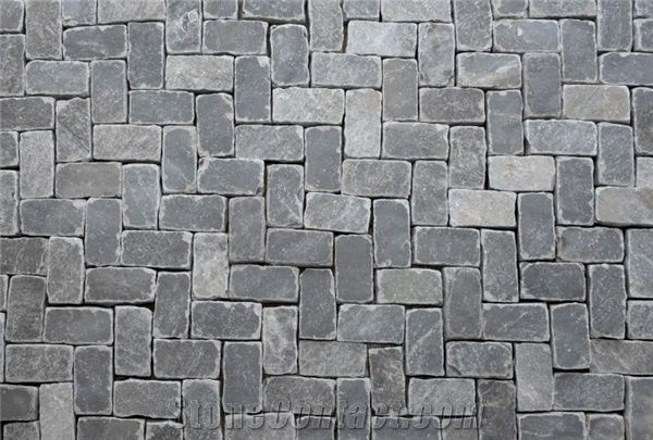 Smokeyblue Tumbled Paver, Blue Sandstone Pavers from United
