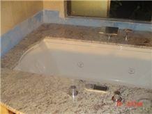 Typhoon Gold Granite Bath Tub Deck, Yellow Granite