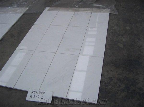 Kycnos White Kyknos A1 2 Tiles Greece White Marble