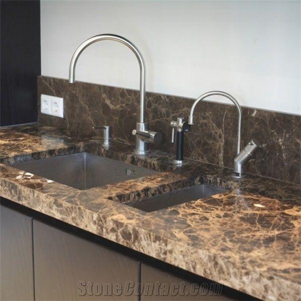 Emperador Oscuro Kitchen Countertops Dark Brown Marble