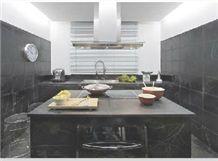Negro Ruivina Kitchen Countertops, Black Marble Kitchen Countertops