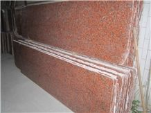 China Red Polished Slab G562, Red Granite