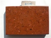 Red Quartz Stone,Quartz Surface,Red Solid Surface Sheet,Engineered Stone,Artificial Stone Slab