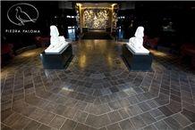 Black Kafe Honed Limestone Tiles & Slabs Spain, Apomazada, Adouci