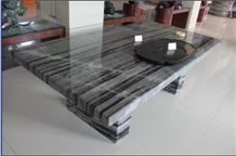 Black&white Marble Top Dining Table HFZZ002J3