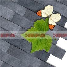 Deep Grey Free Mosaic Pattern-XMD002A, ,esite Grey Basalt Mosaic Pattern