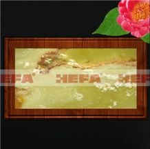 Green Jade and Wood Tiles HF-001LG, Green Jade Onyx Tiles