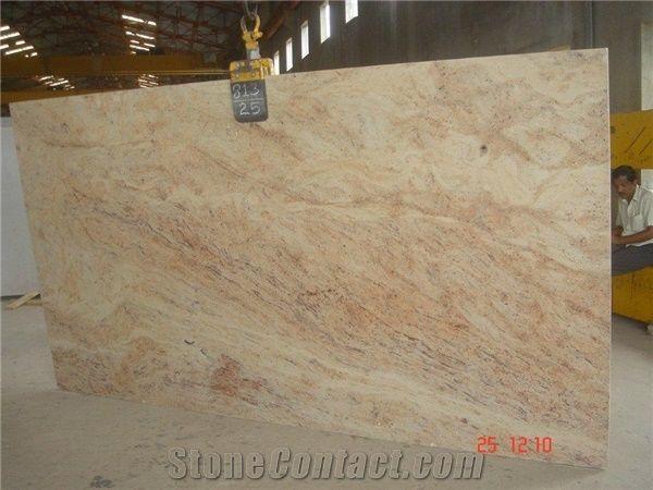Ivory Brown Granite Slab India Pink Granite 187367