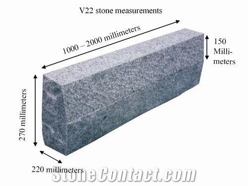 Driveway Curb Stone, G654 Grey Granite Curbs from China