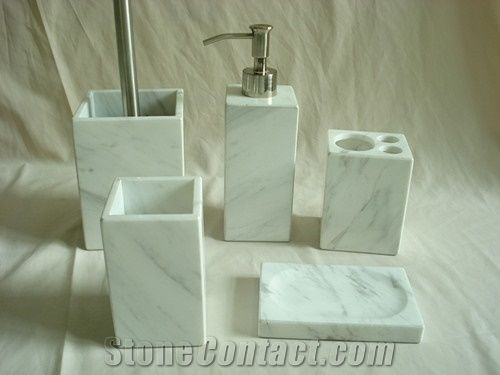 Dl Stone Bathroom Accessories Volakas White Marble Bath