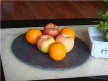 Slate Dish,Natural Black Slate Kitchen Accessories