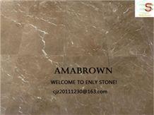 Ama Brown, China Brown Marble Slabs & Tiles