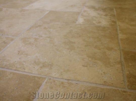 Ionian Cream Travertine Floor Tiles Brushed And Turkey Beige