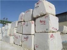 Cream Marble Stone Dehbid, Dehbid Beige Marble Block
