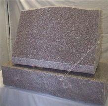 G635 Granite Grave Slant Marker