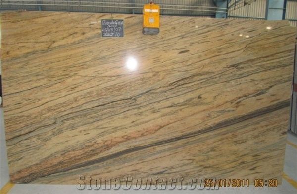 Prada Gold Granite Slabs Tiles From India Stonecontact Com